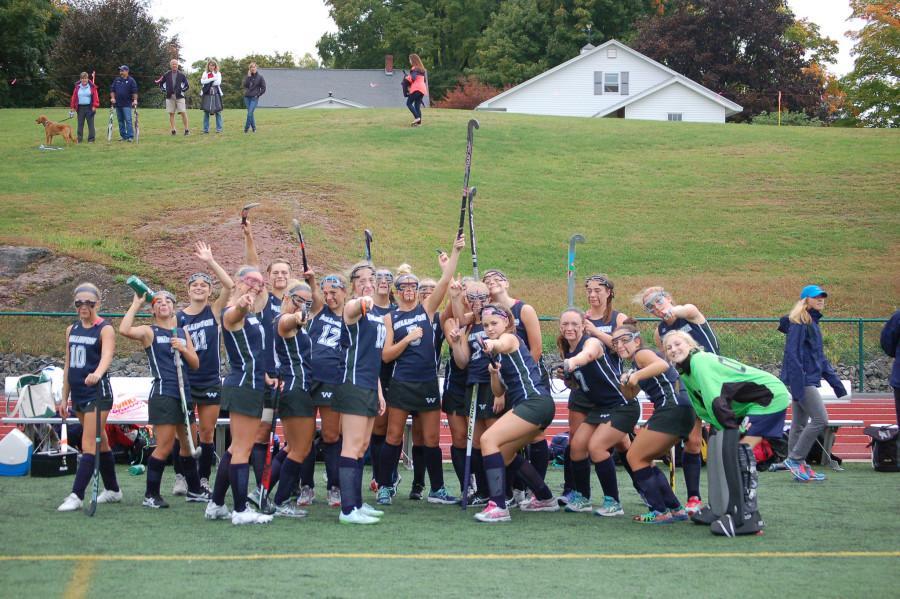 The+senior-dominated+Varsity+Field+Hockey+team%3B+photo+by+Gabby+Jones