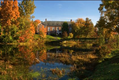 Campus Center and Pond of The Williston Northampton School