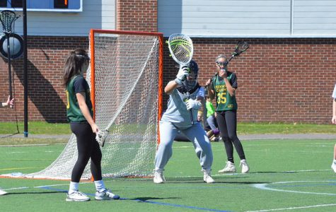 Shana Hecht in goal against Greenwich Academy. Credit: Williston Flickr.