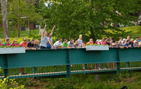 Students gather on the bridge during Willy Gras 2017. Credit: Williston Flickr