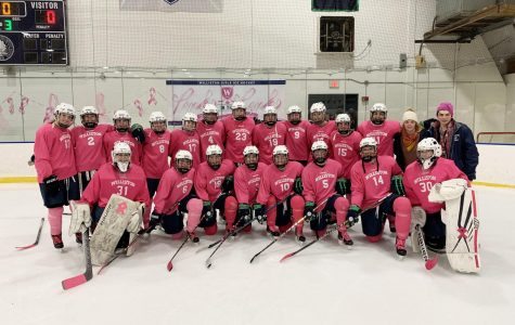 The Girls Hockey Team at the Annual