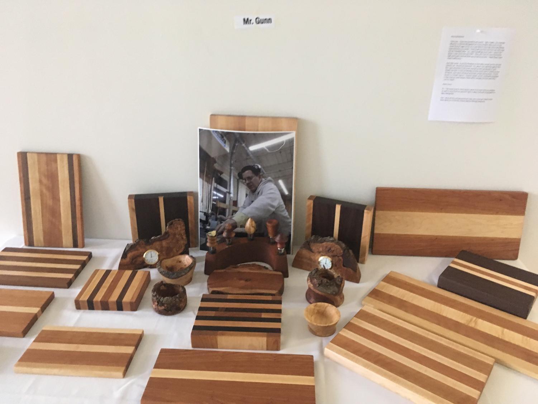 Mr. Gunn's wooden cutting boards. Credit: Sarah Markey '22