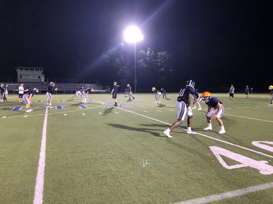 The+Williston+football+team+practicing+at+night.+Credit%3A+Twitter