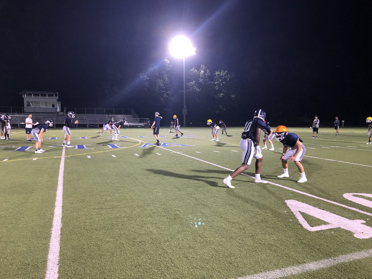 The Williston football team practicing at night. Credit: Twitter